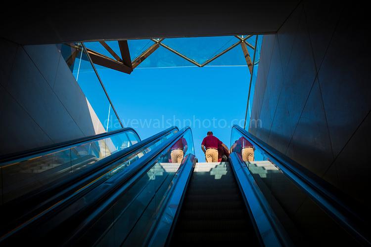 Escalator at Caixaforum, Barcelona.