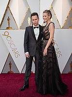 Oscar&reg; nominee for Best Supporting Actor, Sam Rockwell and Leslie Bibb, arrive on the red carpet of The 90th Oscars&reg; at the Dolby&reg; Theatre in Hollywood, CA on Sunday, March 4, 2018.<br /> *Editorial Use Only*<br /> CAP/PLF/AMPAS<br /> Supplied by Capital Pictures