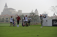 Marc Warren (SCO) tees off the 6th tee during Saturay's Round 3 of the 2014 BMW Masters held at Lake Malaren, Shanghai, China. 1st November 2014.<br /> Picture: Eoin Clarke www.golffile.ie