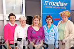 The IT Roadster is on Tour - Giving courses on everyday computer for beginners, pictured in Cahersiveen at MD Keating's Car Park on Thursday last were Maria Teahan, Bride Roper, Ita Ryan(Tutor), Ann-Marie Musgrave & Rosaleen McCarthy.