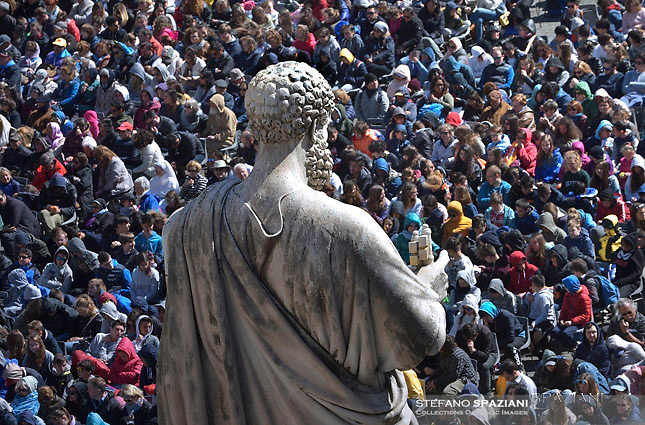 St Peter's square in Vatican Pope Francis during of a weekly general audience at St Peter's square in Vatican. April 19, 2017