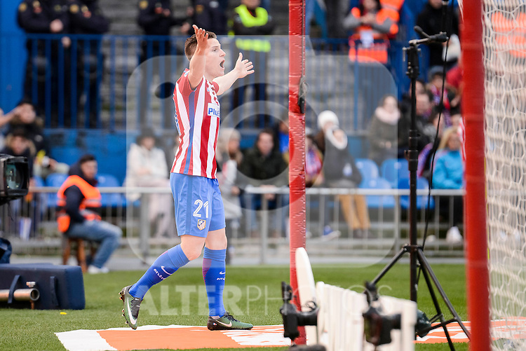 Atletico de Madrid Kevin Gameiro during La Liga match between Atletico de Madrid and UD Las Palmas at Vicente Calderon Stadium in Madrid, Spain. December 17, 2016. (ALTERPHOTOS/BorjaB.Hojas)