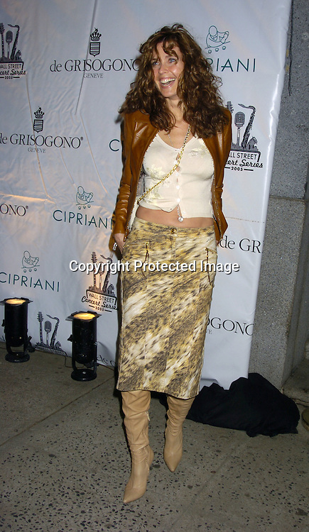 Carol Alt..at The Sheryl Crow Concert at The Cipriani Wall Street Concert on April 26, 2005 at Ciprianis on Wall Street. ..Photo by Robin Platzer, Twin Images
