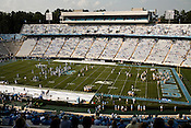 August 30, 2008. Chapel Hill, NC..  In the opening game of the season, the UNC Tarheels beat McNeese State 35- 27 in a game delayed by foul weather.