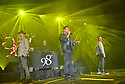COCONUT CREEK, FL - FEBRUARY 28: (L-R) Justin Jeffre, Jeff Timmons and Drew Lachey of 98 Degrees perform on stage at Seminole Casino Coconut Creek on February 28, 2020 in Coconut Creek, Florida. ( Photo by Johnny Louis / jlnphotography.com )