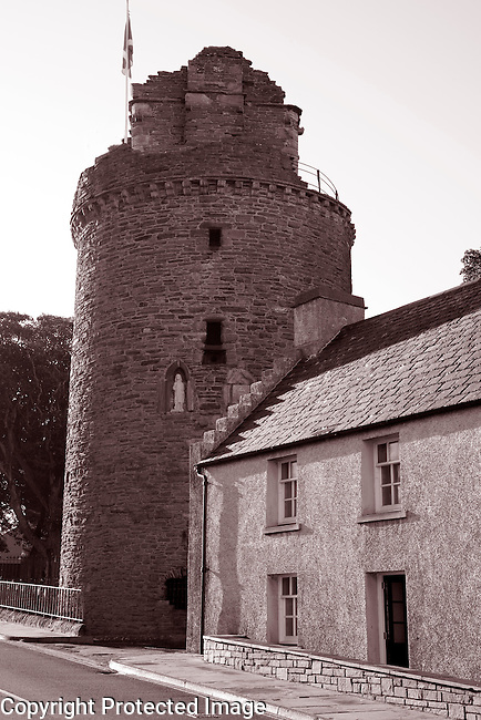 Tower of Bishops Palace, Kirkwall in Orkney Islands, Scotland
