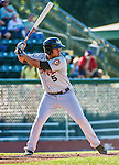 1 September 2014: Tri-City ValleyCats outfielder Terrell Joyce at bat against the Vermont Lake Monsters at Centennial Field in Burlington, Vermont. The ValleyCats defeated the Lake Monsters 3-2 in NY Penn League action. Mandatory Credit: Ed Wolfstein Photo *** RAW Image File Available ****