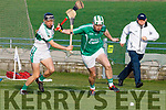 Padraig Boyle of Ballyduff and Kanturk's John McLoughlin  in action, in the Munster IHC semi final in Austion Stack Park on Sunday last.