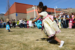 Amethyst Olivas, 4, of Carson City races for eggs during the 7th Annual Easter Fiesta at Western Nevada College Saturday, March 26, 2016. The event, hosted by the Association of Latin American Students, had 3 separate egg hunts, face painting, limbo, musical chairs, ring toss, sack races, bowling,  food, music and a piñata.  <br />