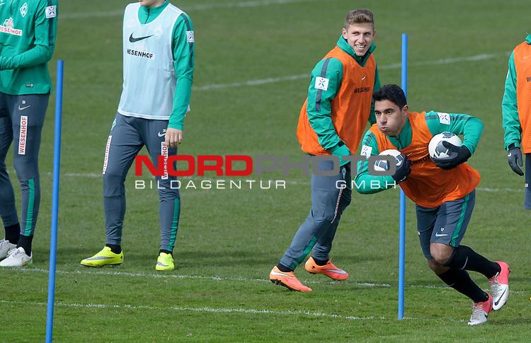 08.04.2015, Trainingsgelaende, Bremen, GER, 1.FBL, Training Werder Bremen, im Bild &Ouml;zkan / Oezkan Yildirim (Bremen #17)<br /> <br /> Foto &copy; nordphoto / Frisch