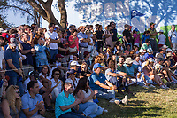 Crowds on the 18th during the third round of the Mutuactivos Open de Espana, Club de Campo Villa de Madrid, Madrid, Madrid, Spain. 05/10/2019.<br /> Picture Hugo Alcalde / Golffile.ie<br /> <br /> All photo usage must carry mandatory copyright credit (© Golffile | Hugo Alcalde)