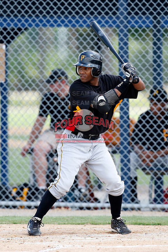 July 13, 2009:  Second Baseman Greg Picart of the GCL Pirates during a game at Tiger Town in Lakeland, FL.  The GCL Pirates are the Gulf Coast Rookie League affiliate of the Pittsburgh Pirates.  Photo By Mike Janes/Four Seam Images