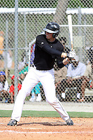 Austin Meadows, #28 of Grayson High School, Georgia playing for the Team Elite during the WWBA World Champsionship 2012 at the Roger Dean Complex on October 27, 2012 in Jupiter, Florida. (Stacy Jo Grant/Four Seam Images)..