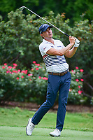 Kevin Kisner (USA) watches his tee shot on 4 during round 3 of the Dean &amp; Deluca Invitational, at The Colonial, Ft. Worth, Texas, USA. 5/27/2017.<br /> Picture: Golffile | Ken Murray<br /> <br /> <br /> All photo usage must carry mandatory copyright credit (&copy; Golffile | Ken Murray)