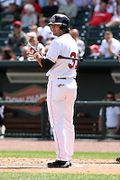 June 15th 2008:  Preston Mattingly of the Great Lakes Loons, Class-affiliate of the Los Angeles Dodgers, during a game at Dow Diamond in Midland, MI.  Photo by:  Mike Janes/Four Seam Images