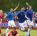 Lee McCulloch nabs the winning goal in extra-time as the heavens open in Angus