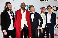 "LOS ANGELES - FEB 7:  Jonathan Van Ness, Karamo Brown, Bobby Berk, Tan France, Atoni Porowski at the ""Queer Eye"" Season One Premiere Screening at the Pacific Design Center on February 7, 2018 in West Hollywood, CA"
