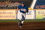 June 29, 2009 -- Omaha Royals left fielder Scott Thorman, from Cambridge, Ontario, runs to third base against the Albuquerque Isotopes in a minor league professional baseball game on Monday June 29, 2009 in Omaha, Nebraska. PHOTO/Daniel Johnson