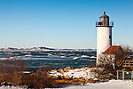 Fresh snow at Annisquam Light in Gloucester, MA, USA