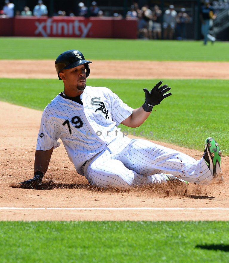 Chicago White Sox Jose Abreu (79) during a game against the Atlanta Braves on July 9, 2016 at US Cellular Field in Chicago, IL. The White Sox beat the Braves 5-4.