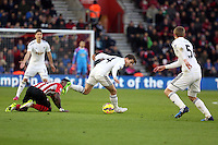 Pictured: Tom Carroll of Swansea Sunday 01 February 2015<br /> Re: Premier League Southampton v Swansea City FC at ST Mary's Ground, Southampton, UK.