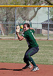 April 20, 2012:   University of Hawai'i Warrior second baseman Dara Pagaduan throws to first against the Nevada Wolf Pack during their NCAA softball game played at Christina M. Hixson Softball Park on Friday in Reno, Nevada.