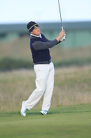 Hugh Grant (AM) during the Final Day of the Alfred Dunhill Links Championship at St. Andrews Golf Club on Sunday 29th September 2013.<br /> Picture:  Thos Caffrey / www.golffile.ie