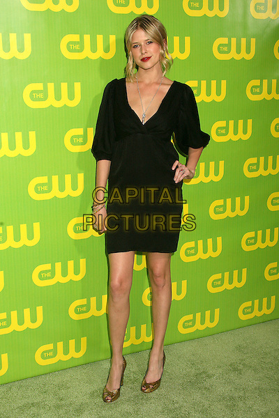SARAH WRIGHT.The CW Winter TCA All Star Party at the Ritz Carlton,  Pasadena, California. USA, 19 January 2007..full length black dress hand on hip red lipstick.CAP/ADM/BP.©Byron Purvis/AdMedia/Capital Pictures.
