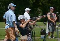 NWA Democrat-Gazette/BEN GOFF @NWABENGOFF<br /> Hunter Hanna, 13, of Hot Springs fires at a clay Friday, June 16, 2017, during the Poultry Festival trap competition at the Bella Vista Property Owners Association gun range. The 58th annual Poultry Festival is a fundraiser for The Poultry Federation, and also includes a golf tournament and scholarship auction Friday followed by a concert at the Walmart Arkansas Music Pavillion and poultry cook off on Saturday in Rogers.