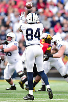 College Park, MD - NOV 11, 2017: Penn State Nittany Lions wide receiver Juwan Johnson (84) catches a pass during game between Maryland and Penn State at Capital One Field at Maryland Stadium in College Park, MD. (Photo by Phil Peters/Media Images International)
