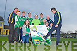 Pa Wren practicing for the Milltown/Castlemaine Ring of Kerry Solo Challenge on June 1st in aid of Kerry Lifeline watching him at the launch were front l-r: Lorna McCarthy and David Leane. Back row: Damian McCarthy, Luke Heffernan, Cormac Leane, Oltan heffernan, Tadgh McCarthy and Mike Carroll