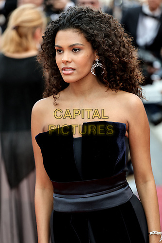 """CANNES - MAY 15:  Tina Kunakey arrives to the premiere of """" LES MISÉRABLES """" during the 2019 Cannes Film Festival on May 15, 2019 at Palais des Festivals in Cannes, France.      <br /> CAP/MPI/IS/LB<br /> ©LB/IS/MPI/Capital Pictures"""