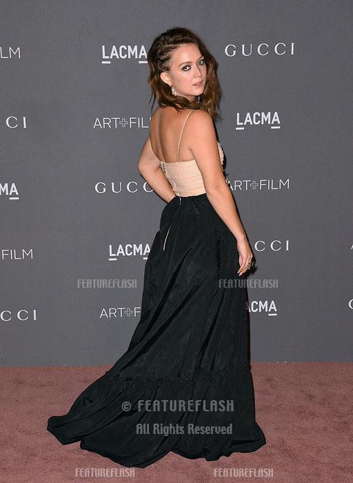 Billie Lourd at the 2017 LACMA Art+Film Gala at the Los Angeles County Museum of Art, Los Angeles, USA 04 Nov. 2017<br /> Picture: Paul Smith/Featureflash/SilverHub 0208 004 5359 sales@silverhubmedia.com