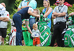 Irelands Ronan Keating with his son Copper <br /> <br /> Golf - Day 1 - Celebrity Cup 2018 - Saturday 30th June 2018 - Celtic Manor Resort  - Newport<br /> <br /> &copy; www.sportingwales.com- PLEASE CREDIT IAN COOKCelebrity Cup 2018<br /> Celtic Manor Resort<br /> 30.06.18<br /> &copy;Steve Pope <br /> Fotowales