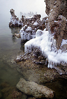 Mono Lake , winter, near Yosemite National Park, California.