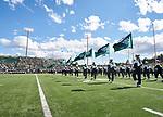 The Ohio University 110 march onto the field to preform Pregame.