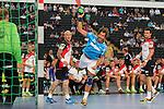 Team Buschis Magnus Wislander (Nr.22) mit einem Sprungwurf beim Tag des Handballs - Team Frank Buschmann vs. Team Stefan Kretzschmar.<br /> <br /> Foto &copy; P-I-X.org *** Foto ist honorarpflichtig! *** Auf Anfrage in hoeherer Qualitaet/Aufloesung. Belegexemplar erbeten. Veroeffentlichung ausschliesslich fuer journalistisch-publizistische Zwecke. For editorial use only.