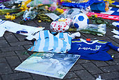 2nd February 2019, Cardiff City Stadium, Cardiff, Wales; EPL Premier League football, Cardiff City versus AFC Bournemouth; A memorial of Emiliano Sala outside Cardiff City Stadium before the match