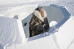 Gjoa Haven is a town in the far north of the Northwest Territories in Canada where over 1000 Inuits live. Not many Inuits have the skill of building an igloo but a few old people still build them when they are away hunting.