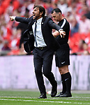 Chelsea Manager Antonio Conte during the FA cup semi-final match at Wembley Stadium, London. Picture date 22nd April, 2018. Picture credit should read: Robin Parker/Sportimage