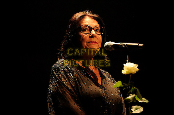 LONDON, ENGLAND - SEPTEMBER 25: Nana Mouskouri performing at the Royal Albert Hall on September 25, 2014 in London, England.<br /> CAP/MAR<br /> &copy; Martin Harris/Capital Pictures