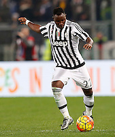 Calcio, Serie A: Lazio vs Juventus. Roma, stadio Olimpico, 4 dicembre 2015.<br /> Juventus&rsquo; Kwadwo Asamoah in action during the Italian Serie A football match between Lazio and Juventus at Rome's Olympic stadium, 4 December 2015.<br /> UPDATE IMAGES PRESS/Riccardo De Luca
