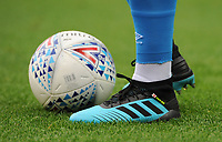 Close-up detail of Blackburn Rovers' Bradley Dack's boots <br /> <br /> Photographer Kevin Barnes/CameraSport<br /> <br /> The EFL Sky Bet Championship - Blackburn Rovers v Luton Town - Saturday 28th September 2019 - Ewood Park - Blackburn<br /> <br /> World Copyright © 2019 CameraSport. All rights reserved. 43 Linden Ave. Countesthorpe. Leicester. England. LE8 5PG - Tel: +44 (0) 116 277 4147 - admin@camerasport.com - www.camerasport.com