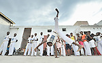 Children practice capoeira on January 24 in a camp for homeless families in the Belair section of Port-au-Prince. The program, run by Viva Rio, a Brazilian nongovernmental organization, is designed to help children affected by the quake recover their emotional well-being.