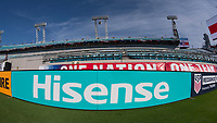 Jacksonville, FL - Thursday, April 05, 2018: Hisense field board during a friendly match between USA and Mexico at EverBank Stadium.  USA defeated Mexico 4-1.