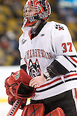 Chris Rawlings (Northeastern - 37) - The Northeastern University Huskies defeated the Harvard University Crimson 4-0 in their Beanpot opener on Monday, February 7, 2011, at TD Garden in Boston, Massachusetts.