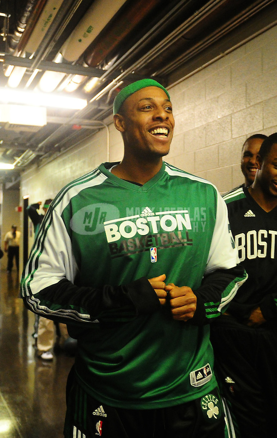 Jan. 28, 2011; Phoenix, AZ, USA; Boston Celtics forward (34) Paul Pierce against the Phoenix Suns at the US Airways Center. Mandatory Credit: Mark J. Rebilas-