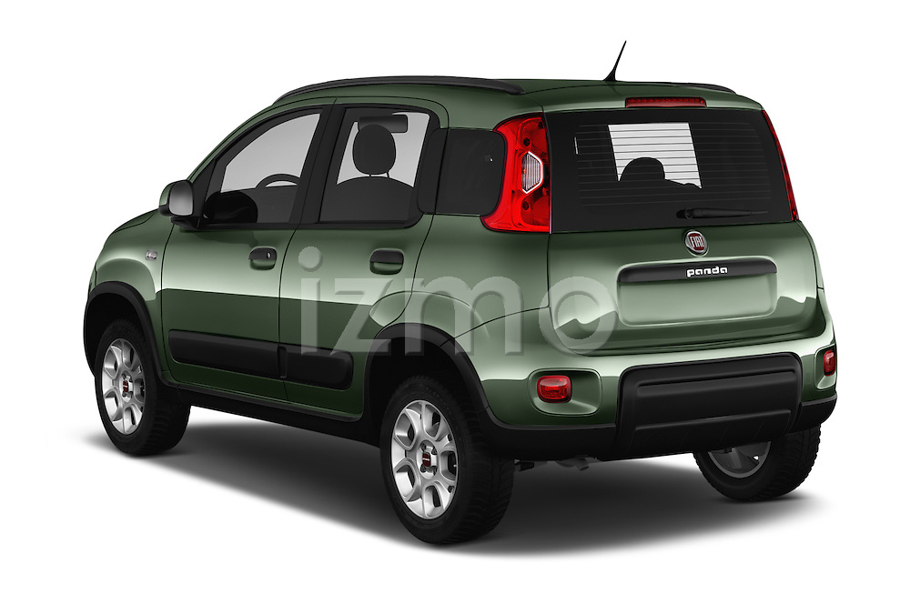 Car pictures of rear three quarter view of 2016 Fiat Panda-4X4 Pop 5 Door Hatchback Angular Rear