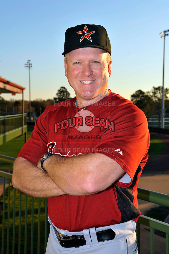 Feb 25, 2010; Kissimmee, FL, USA; The Houston Astros coach Sean Berry (14) during photoday at Osceola County Stadium. Mandatory Credit: Tomasso De Rosa/Four Seam Images
