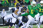 Oct 07, 2015; Eugene, OR, USA; California Golden Bears cornerback Darius Allensworth (2) pulls on the jersey of Oregon Ducks wide receiver Charles Nelson (6) during a kickoff return at Autzen Stadium. <br /> Photo by Jaime Valdez
